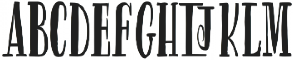 Gluten Rg otf (400) Font UPPERCASE
