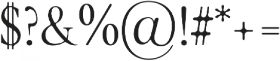 glamour luxury Round otf (400) Font OTHER CHARS