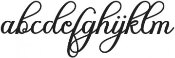 gloretha script Regular otf (400) Font LOWERCASE