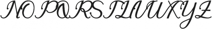 gloretha script bold Regular otf (700) Font UPPERCASE