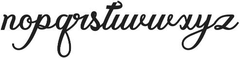 gloretha script bold Regular otf (700) Font LOWERCASE