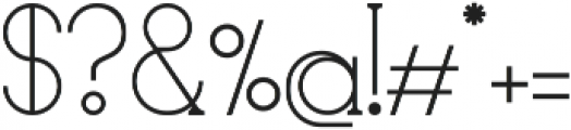 glowe otf (400) Font OTHER CHARS