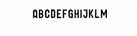GLIFORD-Grunge.otf Font UPPERCASE