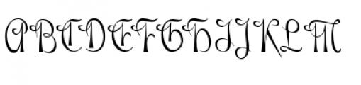 Gladly Narrow Font UPPERCASE