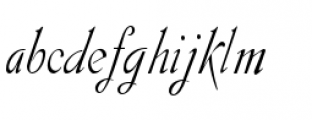 Gladly Oblique Narrow Font LOWERCASE