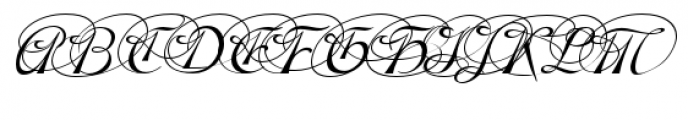Gladly Oblique Ornate Font UPPERCASE