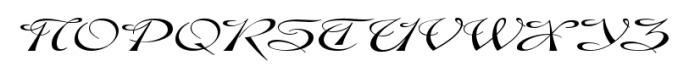 Gladly Oblique Wide Font UPPERCASE