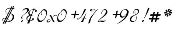 Gladly Oblique Font OTHER CHARS