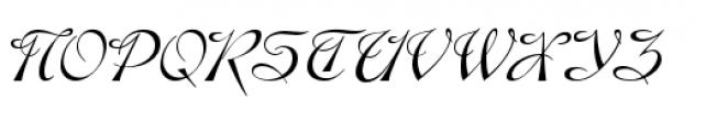 Gladly Oblique Font UPPERCASE