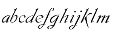 Gladly Oblique Font LOWERCASE