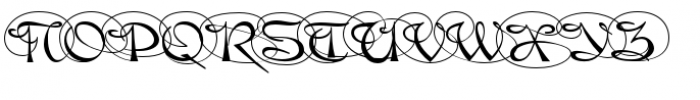 Gladly Ornate Black Font UPPERCASE