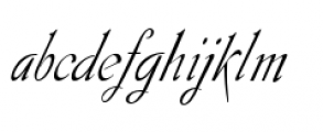 Gladly Ornate Narrow Oblique Font LOWERCASE