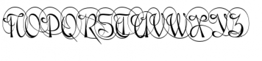 Gladly Ornate Narrow Font UPPERCASE
