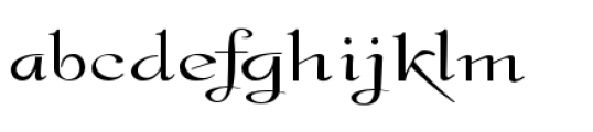 Gladly Ornate Wide Font LOWERCASE