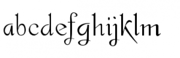 Gladly Ornate Font LOWERCASE