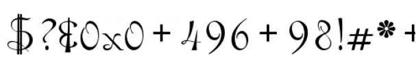 Gladly Regular Font OTHER CHARS