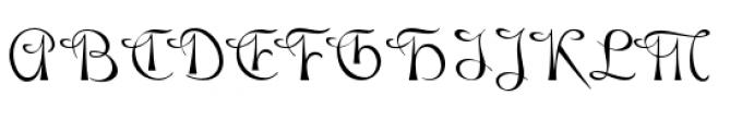 Gladly Regular Font UPPERCASE