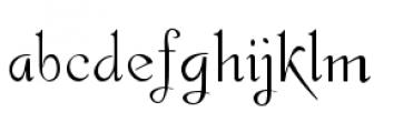 Gladly Regular Font LOWERCASE