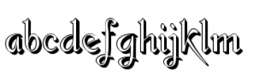 Gladly Rococo Font LOWERCASE