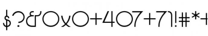Glitterati Flash Alternates Font OTHER CHARS