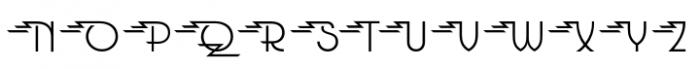 Glitterati Flash Alternates Font UPPERCASE