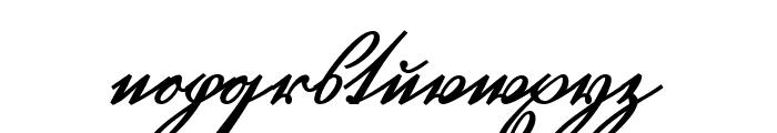 GL-GermanCurU1AY Regular Font LOWERCASE