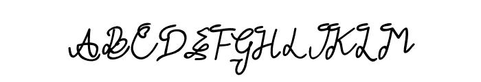 GLADWIN Script Font UPPERCASE
