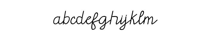 GLADWIN Script Font LOWERCASE