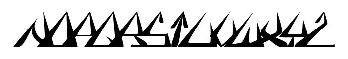 GlOrY BoLd iTaLiC Font LOWERCASE