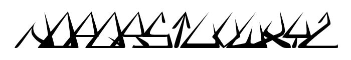 GlOrY ItAlIc Font LOWERCASE