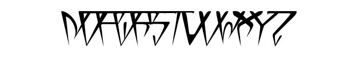 GlOrY ThIn ItAlIc Font UPPERCASE