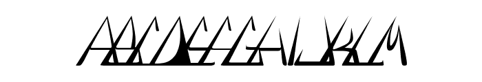 GlOrY ThIn ItAlIc Font LOWERCASE