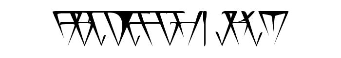 GlOrY ThIn Font UPPERCASE