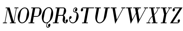 Glamor Bold Condensed Italic Font UPPERCASE