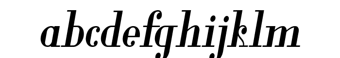 Glamor Bold Condensed Italic Font LOWERCASE