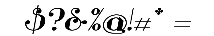 Glamor Bold Extended Italic Font OTHER CHARS