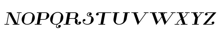 Glamor Bold Extended Italic Font UPPERCASE