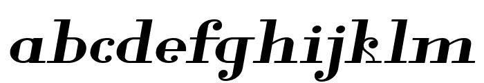 Glamor Bold Extended Italic Font LOWERCASE