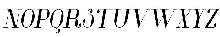 Glamor-CondensedItalic Font UPPERCASE