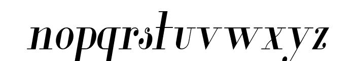 Glamor-CondensedItalic Font LOWERCASE