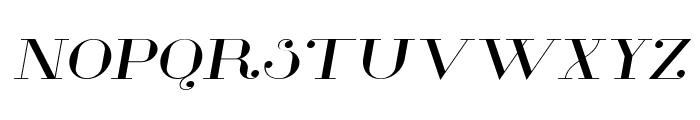 Glamor Extended Italic Font UPPERCASE