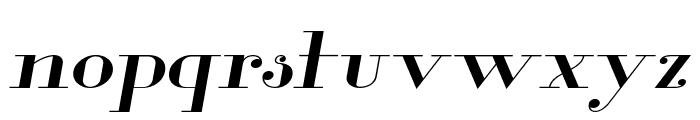 Glamor Extended Italic Font LOWERCASE