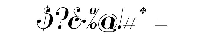Glamor Italic Font OTHER CHARS