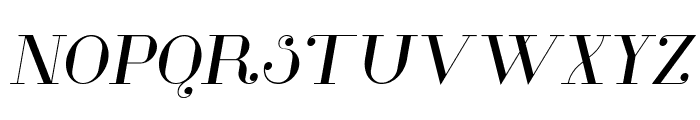 Glamor Italic Font UPPERCASE