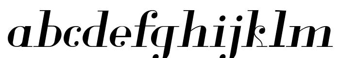 Glamor Italic Font LOWERCASE