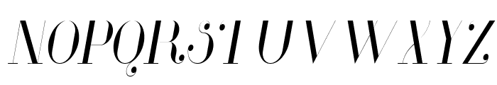 Glamor Light Condensed Italic Font UPPERCASE