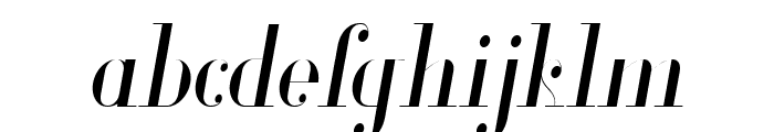 Glamor Light Condensed Italic Font LOWERCASE