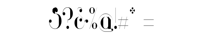Glamor Light Condensed Font OTHER CHARS