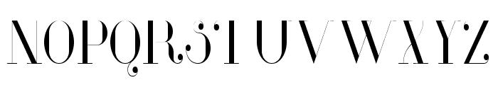 Glamor Light Condensed Font UPPERCASE