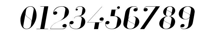 Glamor Light Extended Italic Font OTHER CHARS